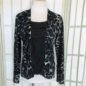 August Silk Blouse Lagenlook Cardigan Top Medium